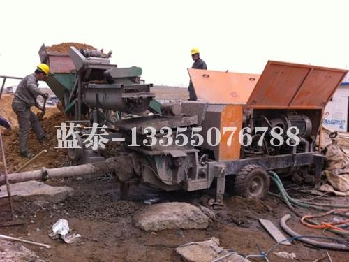 砂浆细石混凝土泵送施工